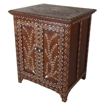 Small Teak Cabinet with Inlay-FCP2018-7