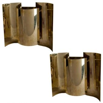 Pair of Brass Ship Sconces