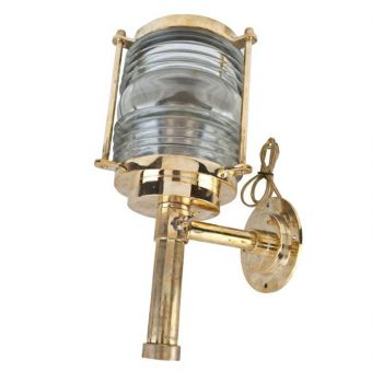 Pair of Brass and Fresnel Light Sconces-NL2018-4