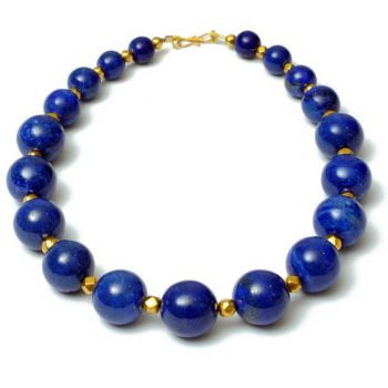 18K Gold and Lapis Necklace