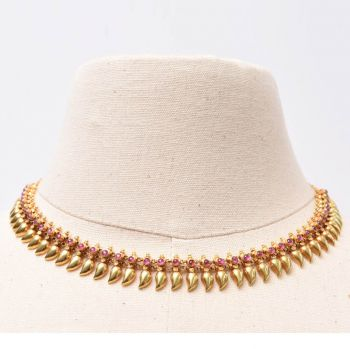 22K Gold and Ruby Necklace - JN2017-7