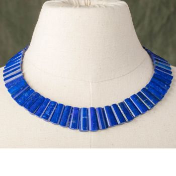 Beveled Lapis Necklace - JN2018-2