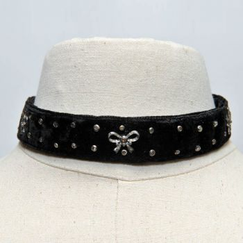 Diamonds on Velvet Choker