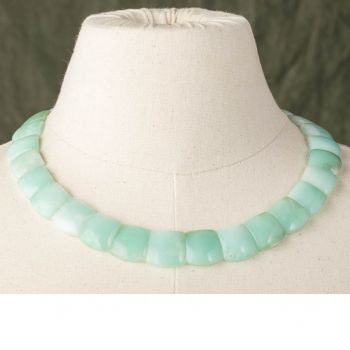 Faceted Chrysoprase Necklace - JN2018-15