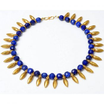 Lapis and 18K Gold Spears