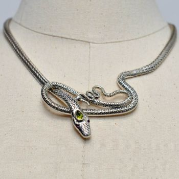 Sterling Silver Snake Necklace (2)