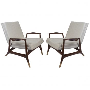 Danish Pair of Teak Arm Chairs, Mid Century Modern - FS201911