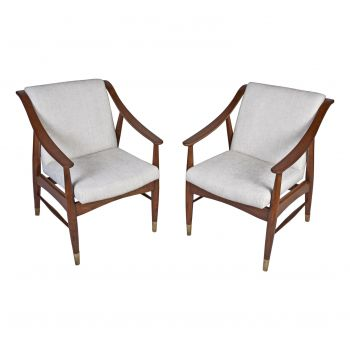 Danish Teak Mid-Century Modern Arm Chairs - FS201912