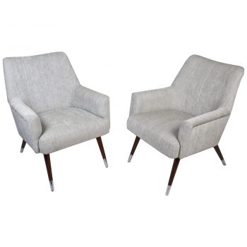 MCM Pair of Chairs with Chrome Feet - FS201913