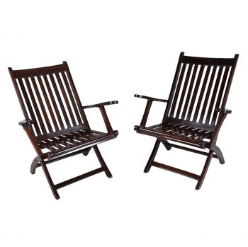 Pair of 1920's Rosewood Deck Chairs - FS201917