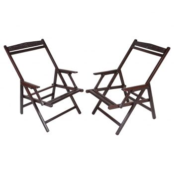 Pair of Folding Chairs, shown without the fabric seat - FS201919
