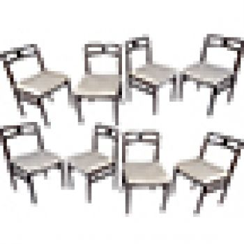 Rosewood Dining Chairs, Set of 8, 1950's (2) - FS201920