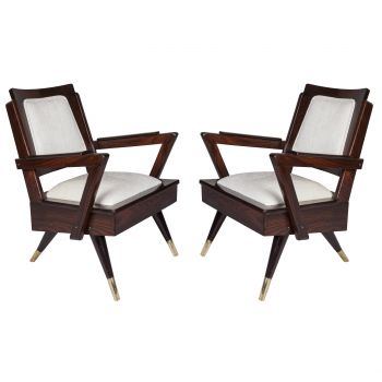 Rosewood Suite--Pair of Chairs and Loveseat, Mid-Century Modern - FS201921