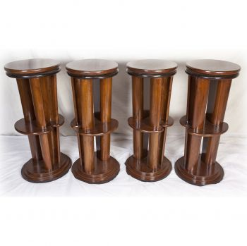 Set of Four Teak Swivel Seat Barstools - FS201922