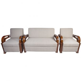 Set of Teak and Rosewood Art Deco Suite - FS201923