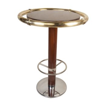 French Ship's Granite and Brass Bar Table - FT20194