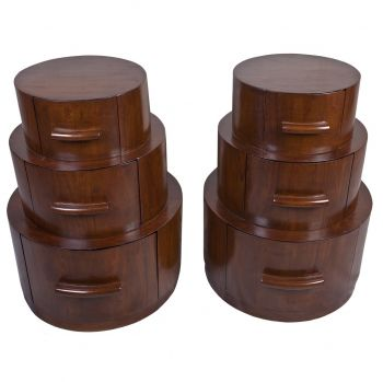 Teak, Round Side Tables, 60's - FT201927