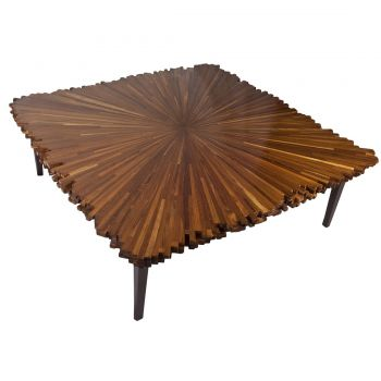 Triple Layer Specimen Wood Coffee Table, 1960's - FT201928