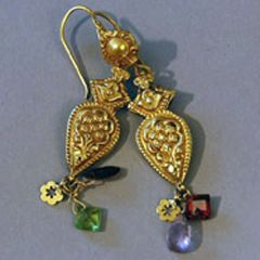 18K gold and semi-precious stones