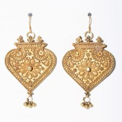 22K Gold Pendants with Fine Granulation Work-JE2019-6