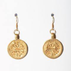 22K Gold Pendants with Script-JE2019-7