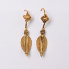 22K Gold Tribal Earrings - JE2017-11