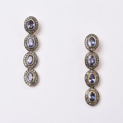 Tanzanite and Diamond Earrings - JE2017-56