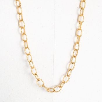 22K Textured Gold Chain, Long enought to double-JN2019-6
