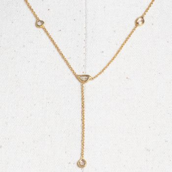 Rosecut Diamonds on 18K Gold 'Y' Chain-JN2019-13