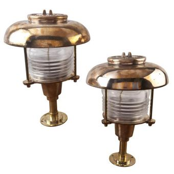 Bronze Post Lights with Fresnel Lens -  NL2019-4