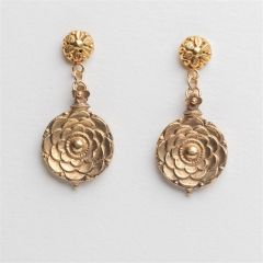 18K Gold Pendant Earrings