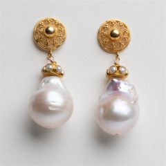 18K Gold and Baroque Pearls