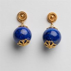 22K Gold and Lapis Earrings