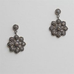Diamond Flower Earrings (2)