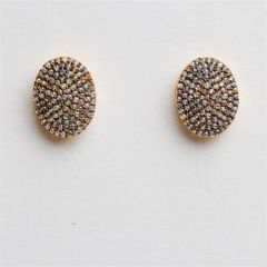 Diamond Oval Studs
