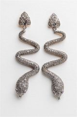 Diamond Snake Earrings