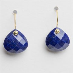 Faceted Lapis and 18K Gold