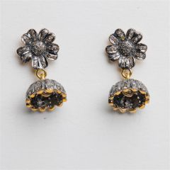 Flower Top Diamond Earrings