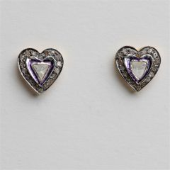Heart-shaped Rosecut Diamond Studs