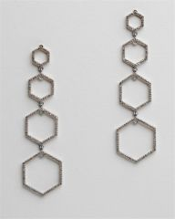 Hexagonal Diamond Earrings