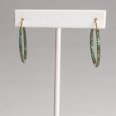 Inside Out Emerald Hoops