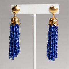 Lapis Lazuli and Vermeil Tassel Earrings