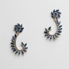 Marquise Blue Sapphire Earrings