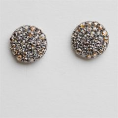 Pave` Diamond Stud Earrings