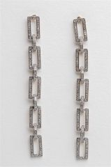 Square Diamond Chain Earrings
