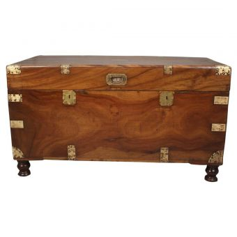 British Campaign Camphor Wood Sea Chest, Late 19th C.-FC0720-1