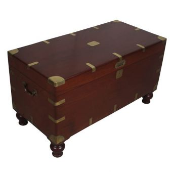 Mahogany British Campaign Chest, Early 1900's-FC0720-5