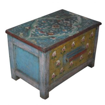 Small Hand-Painted Stool or Storage Box-FC0720-9