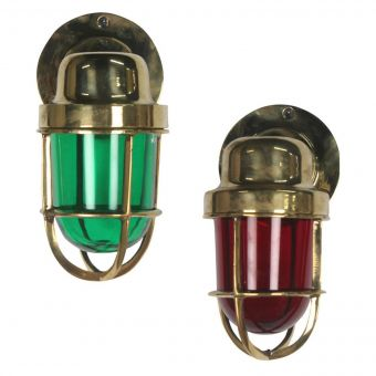 Brass Port and Starboard Wall Lights-NL0720-6