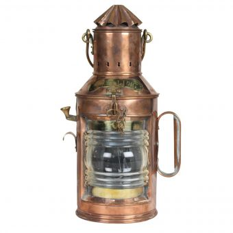 Copper Anchor Oil Light, Early 1900's-NL0720-7